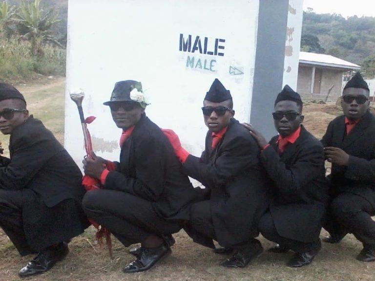 dada awu dancing pallbearers