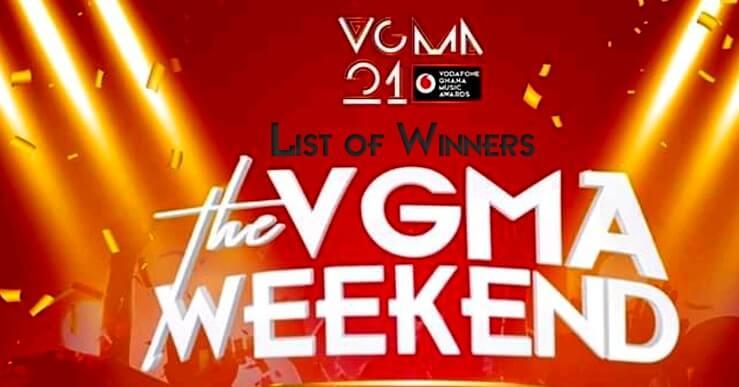 Full List of Winners Vodafone Ghana Music Awards 2020